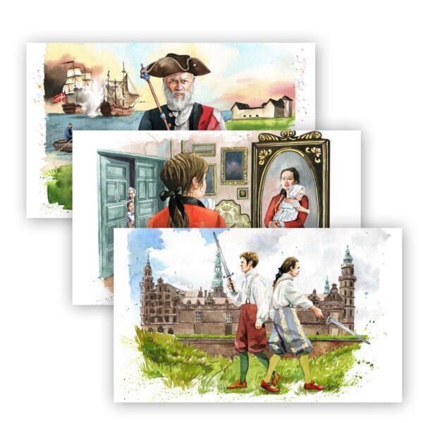 Historiske kronborg postkort